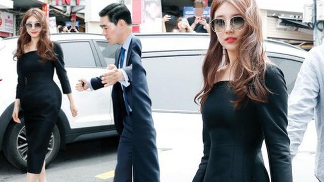Nữ thần sắc đẹp Suzy gây náo loạn khu phố Hàn vì đẹp lồng lộn, được dàn vệ sĩ hộ tống như bà hoàng tại sự kiện