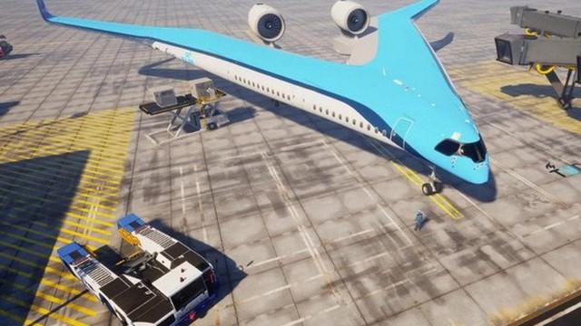 Trong tương lai, hành khách có thể ngồi những chiếc máy bay có hình V độc đáo như thế này
