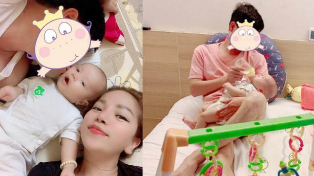 Minh Chuyên hé lộ hình ảnh bố con trai giữa tin đồn cặp đại gia có vợ, đáng tuổi ông