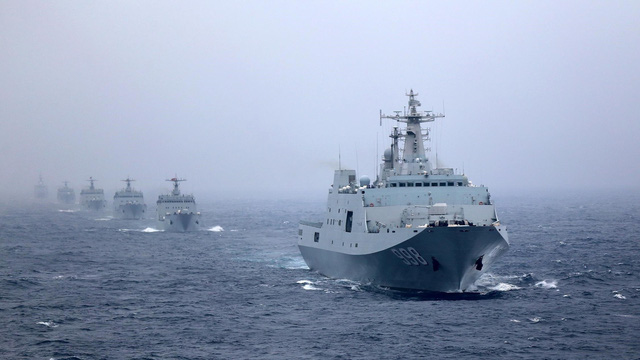 Trung Quốc ngang nhiên tuyên bố tập trận ở biển Đông