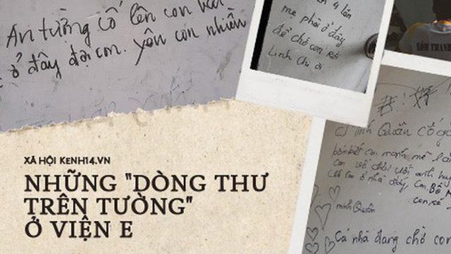 """Xúc động những dòng thư trên bức tường loang lổ ngoài phòng mổ của viện E: """"4 lần mẹ phải ở đây chờ con rồi, con ơi..."""""""