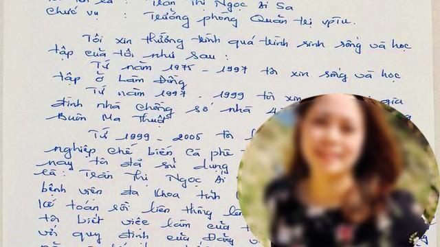 Bản viết tay đầy lỗi chính tả của nữ Trưởng phòng mượn tên để thăng tiến