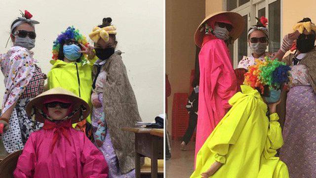 Đi cổ vũ kéo co mà diện đồ cực độc như diễn hề, nhóm nữ sinh chiếm luôn spotlight của hội thi dù chỉ đứng nhún nhảy