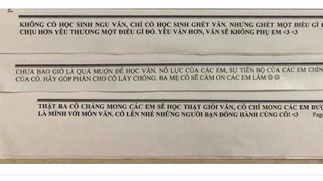 Lời nhắn nhủ 'siêu lầy lội' của cô giáo dạy Văn gây bão mạng