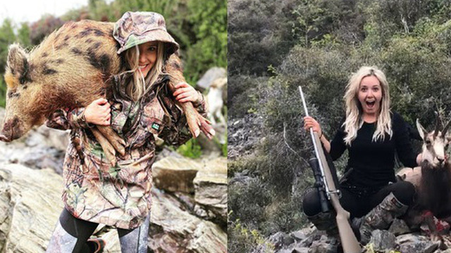 Sát hại hơn 10 con vật mỗi tháng còn khoe chiến tích trên MXH, nữ thợ săn khiến dân mạng căm phẫn, ném đá kịch liệt