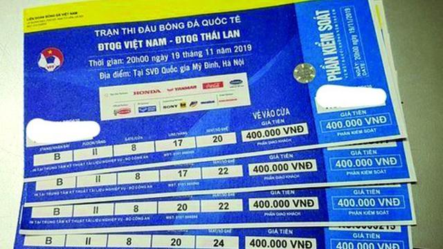 Phát hiện 1 nghìn vé giả trận Việt Nam - Thái Lan