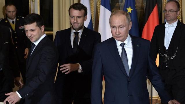 Tổng thống Pháp làm gián đoạn cuộc thảo luận giữa lãnh đạo Nga-Ukraine