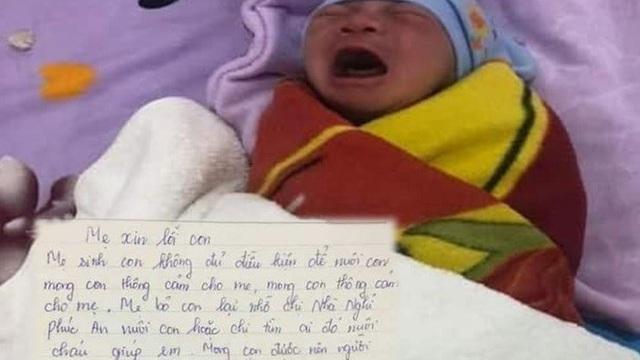 Xót xa bé trai sơ sinh bị bỏ rơi kèm lá thư 'mẹ ngàn lần xin lỗi'