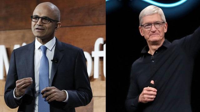 Apple 1,3 nghìn tỷ, Microsoft 1,23 nghìn tỷ và cuộc đua kỳ lạ của 2 vị CEO đại tài bậc nhất thế giới