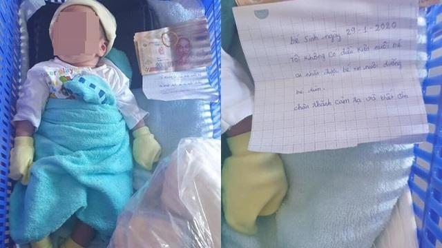 """Bé sơ sinh nửa tháng tuổi bị bỏ rơi ngoài đường kèm theo mẩu giấy: """"Ai nhặt được xin hãy nuôi dưỡng bé"""""""