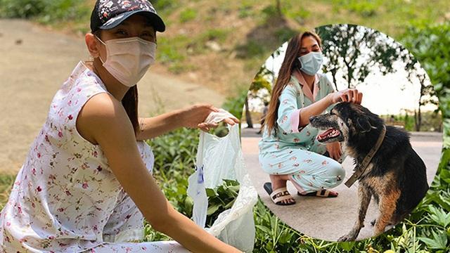 Cuộc sống của siêu mẫu Võ Hoàng Yến tại khu cách ly: Luộc rau bằng ấm siêu tốc, chăm chó