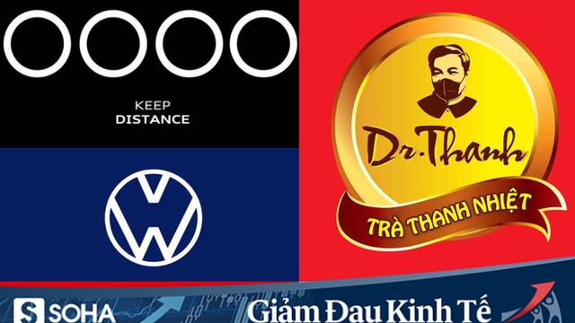 """Logo các thương hiệu nổi tiếng đồng loạt """"xa nhau 2 mét"""" thời Covid-19"""