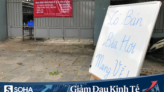 Sau cú sốc kép, quán nhậu nổi tiếng Hà Thành hé cửa bán bia cho khách mang về nhà