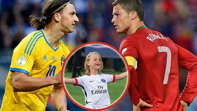 """Âm thầm truyền nghề cho 2 quý tử, Ibrahimovic sẽ có ngày """"báo thù rửa hận"""" Ronaldo?"""