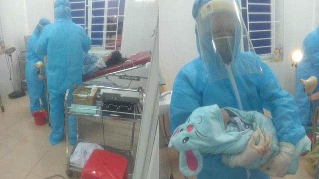 Sản phụ đang cách ly ở bệnh viện được bác sỹ đỡ đẻ thành công bé trai nặng gần 3kg