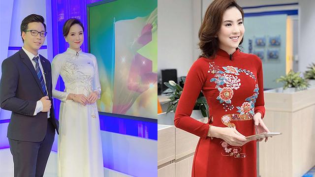 MC Mai Ngọc diện áo dài nền nã, tự hào được đi làm trong dịp nghỉ lễ