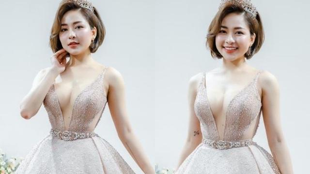 Hot girl Trâm Anh bất ngờ mặc váy cưới cực nóng bỏng