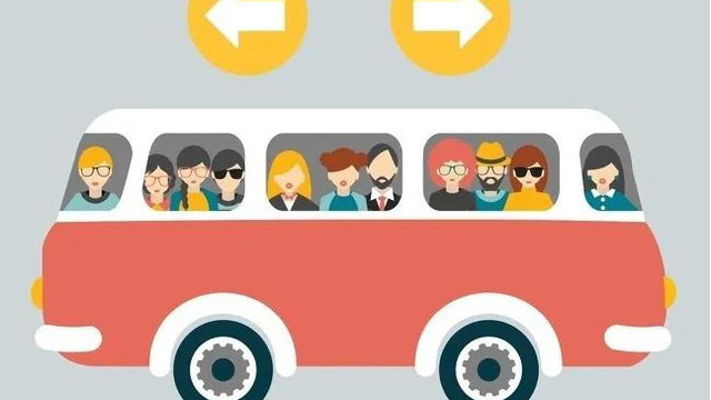 Xe buýt đang đi sang trái hay phải? Đa số người được hỏi đều nhầm