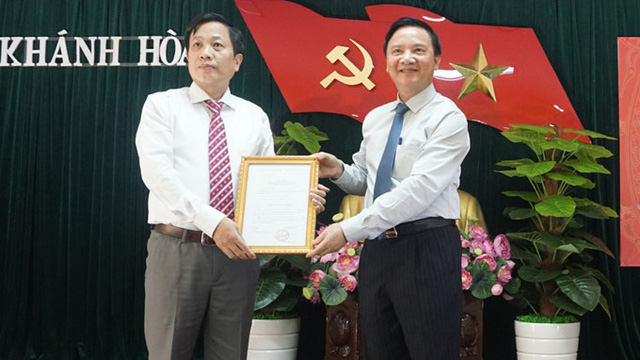 Ủy viên Ủy ban Kiểm tra Trung ương giữ chức Phó Bí thư Tỉnh ủy Khánh Hòa