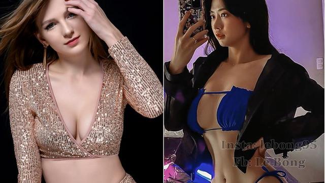 Vẻ ngoài bốc lửa của hai hot girl xuất hiện trong MV Trung Ruồi