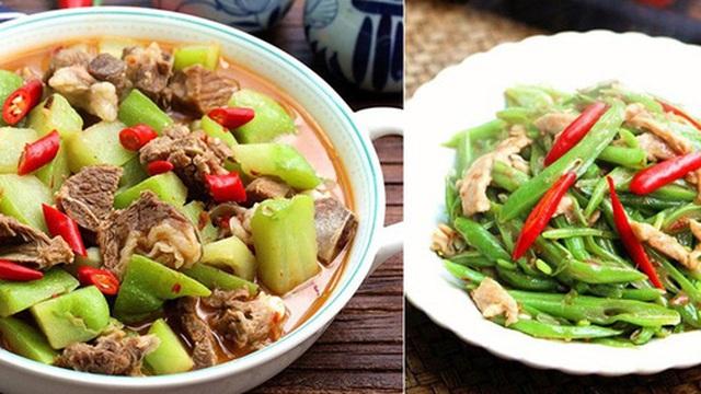 Cơm tối hai món ngon miệng nhiều rau xanh lại làm cực nhanh cho ngày đầu tuần bận rộn
