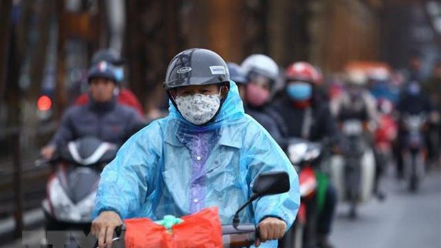 Không khí lạnh gây mưa rét ở Bắc Bộ, nhiệt độ tụt xuống 13 độ C