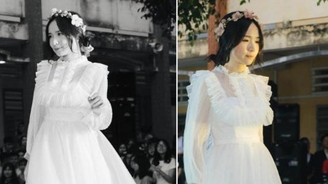 Diện váy trắng thi văn nghệ, nữ sinh Long An gây sốt với nhan sắc được ví như 'thần tiên tỉ tỉ' khiến cả trai lẫn gái đều mê tít