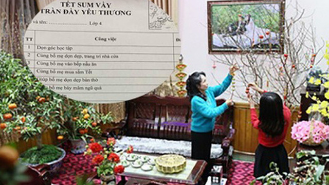 Thấy con được yêu cầu 20 bài tập về nhà dịp Tết, phụ huynh xem xong chỉ biết sửng sốt thốt lên: Cô giáo quá tuyệt vời!