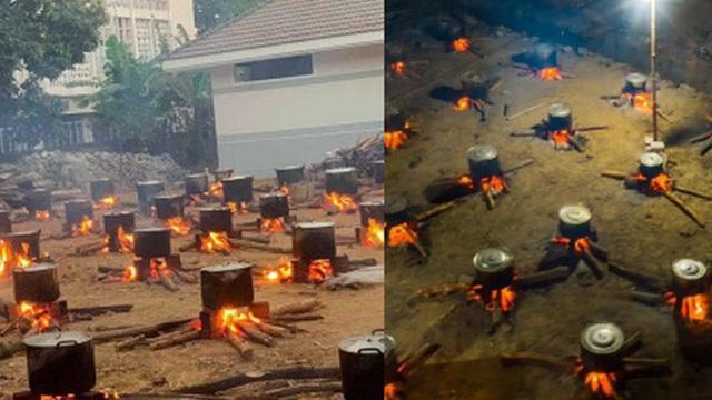 Hàng trăm nồi bánh tét 'đỏ lửa' ở Kon Tum khiến bao người xao xuyến: 'Tết đã đến rất gần rồi'