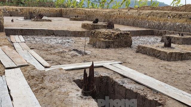 Thêm 13 cọc gỗ nghi liên quan đến trận Bạch Đằng phát lộ ở Hải Phòng