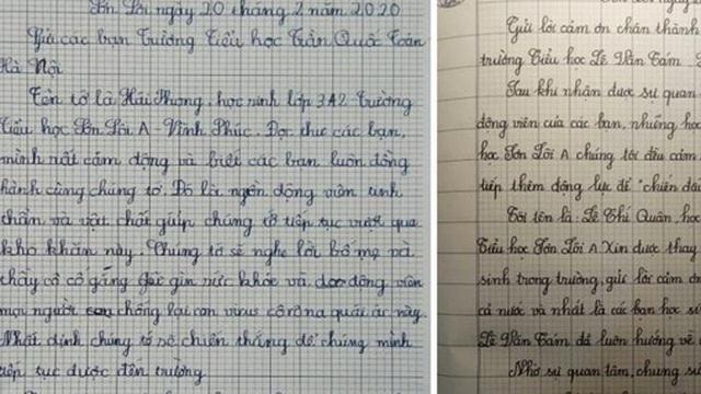 Xúc động bức thư học sinh vùng dịch Sơn Lôi cảm ơn các bạn nhỏ ở Hà Nội