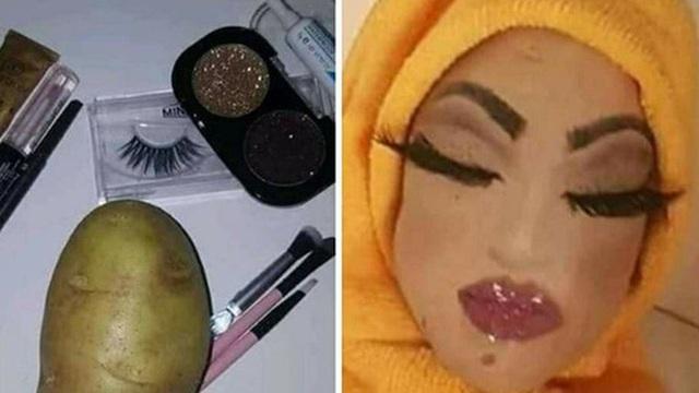 """""""Vịt hóa thiên nga"""" đã là gì, đỉnh cao công nghệ make-up là biến củ khoai tây cũng trở thành gương mặt mỹ nhân vạn người mê"""