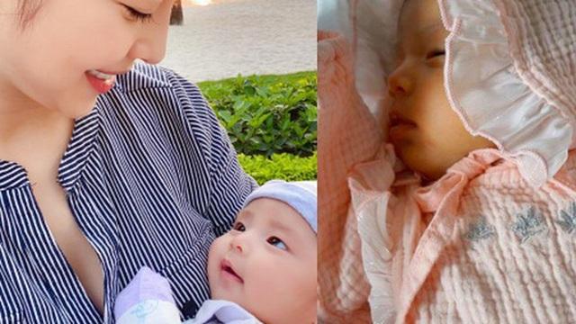 """Jennifer Phạm lần đầu khoe cận mặt con gái mới sinh, dân mạng rào rào khen cựu Hoa hậu: """"Đẻ quá khéo"""""""