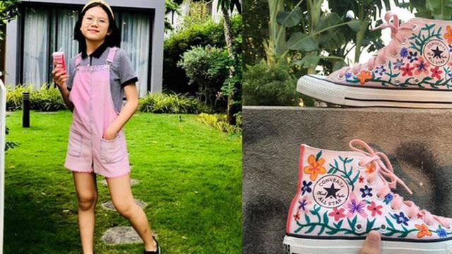 """Nhờ nghỉ học ở nhà mà mẹ phát hiện thêm tài năng của con gái: Quần áo và giày dép cũ """"biến hóa"""" đẹp lạ đáng kinh ngạc"""