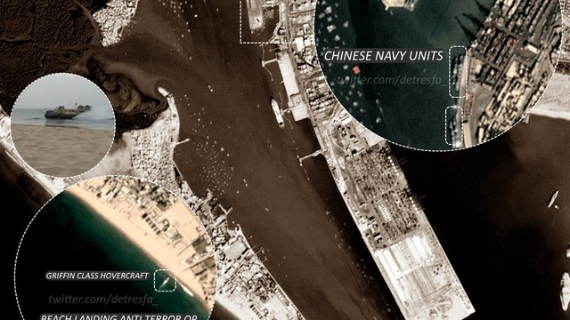 Hình ảnh vệ tinh hé lộ hoạt động của hải quân Trung Quốc ở Ấn Độ Dương