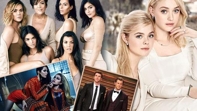 """6 cặp anh chị em quyền lực nhất Hollywood: Chị em Hadid, Fanning cực phẩm, nhà Kardashian và """"Zack & Cody"""" toàn rich kid"""