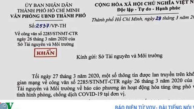 PGĐ Sở Tài Nguyên Môi trường TPHCM bị khiển trách vì văn bản hỏa táng