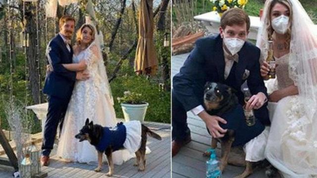 Cặp đôi tự làm đám cưới ngay tại vườn nhà mà không có khách mời, sự xuất hiện của phù dâu còn gây ngạc nhiên hơn nữa