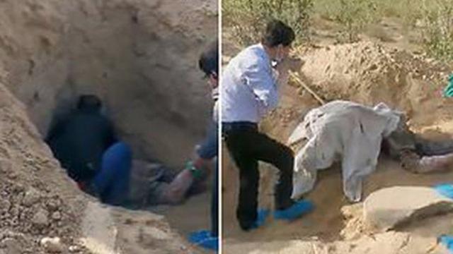 Cảnh sát Trung Quốc cứu cụ bà bị con trai chôn sống 3 ngày