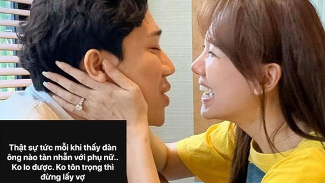 Hari Won đăng status bức xúc 'đàn ông tàn nhẫn với phụ nữ, không tôn trọng thì đừng lấy vợ', chuyện gì đây?