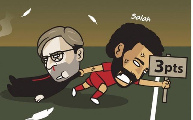 """Biếm họa 24h: Mohamed Salah cứu Liverpool """"thoát nạn"""" trước Leeds"""