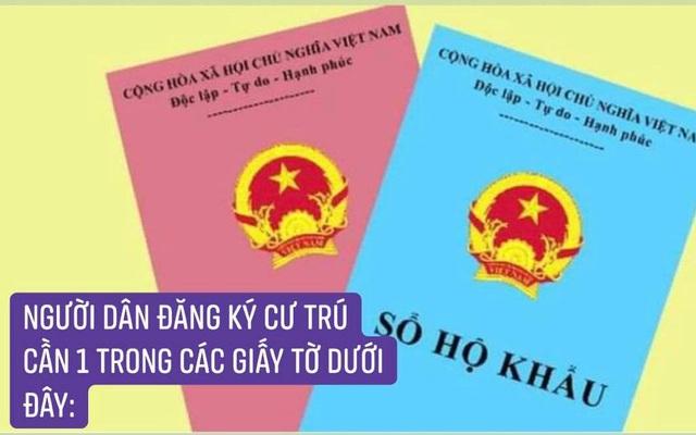 Từ 1/7, người dân khi đăng ký cư trú ở Hà Nội và các tỉnh cần mang theo giấy tờ gì?