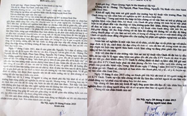 Bị can vụ 'nhân bản xét nghiệm' kêu cứu Bí thư HN