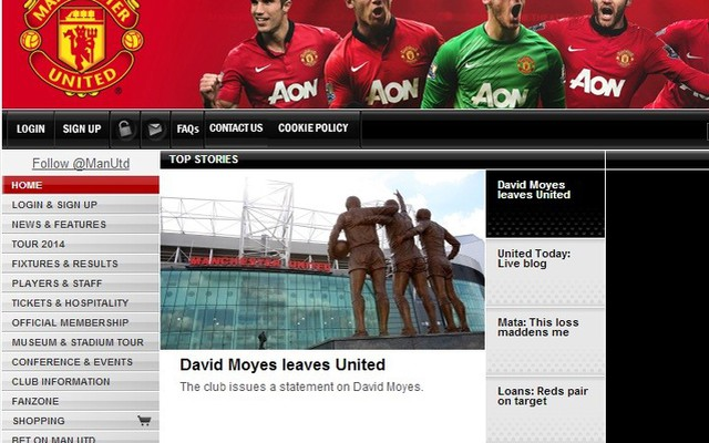 David Moyes đã bị Man United sa thải