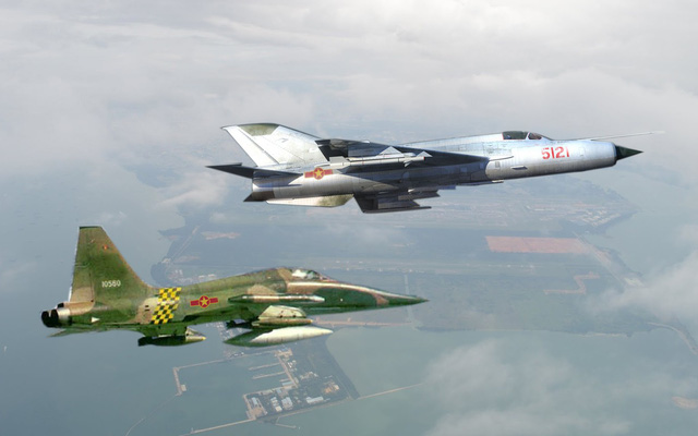Những máy bay tham gia bảo vệ miền Bắc năm 1979