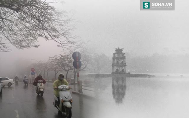 Nước hồ Gươm ở Hà Nội đã từng bị đóng băng