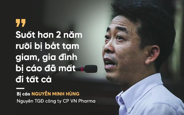 """Nguyên Tổng GĐ cty VN Pharma bật khóc: """"Bị cáo không còn biết cuộc đời thế nào"""""""