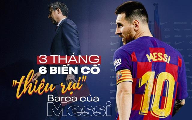 """Đau cho Messi: Kỷ nguyên huy hoàng của Barca bị """"...đốt một giờ"""" bởi cuộc chiến vương quyền"""