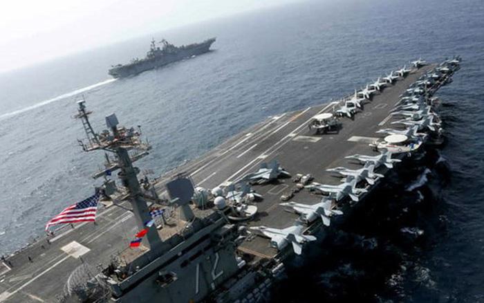 Nhóm tàu sân bay Mỹ bất ngờ trở lại 'sân sau' của Iran để làm gì?