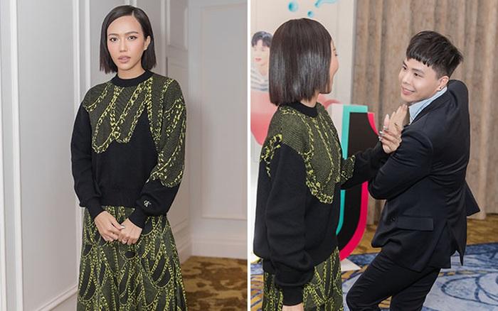 Diệu Nhi mặc sành điệu, vui vẻ sánh đôi cùng Trịnh Thăng Bình tại sự kiện